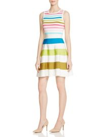 KAREN MILLEN Rainbow Stripe Knit Sweater Dress at Bloomingdales