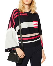 KAREN MILLEN Striped Color-Block Sweater at Bloomingdales