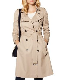 KAREN MILLEN Studded Trench Coat at Bloomingdales