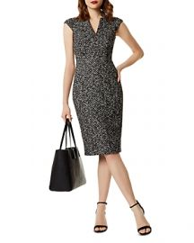 KAREN MILLEN Tweed Sheath Dress  at Bloomingdales