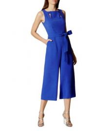 KAREN MILLEN Belted Culotte Jumpsuit at Bloomingdales