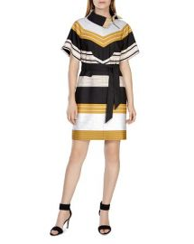 KAREN MILLEN Belted Striped Dress at Bloomingdales