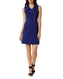 KAREN MILLEN Button Detail Dress at Bloomingdales
