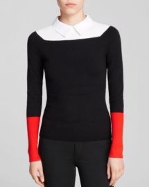 KAREN MILLEN Collared Color Block Sweater - Bloomingdaleand039s Exclusive at Bloomingdales