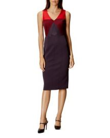 KAREN MILLEN Color-Block Pencil Dress at Bloomingdales