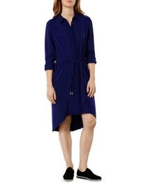 KAREN MILLEN Drawstring Shirt Dress at Bloomingdales