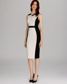 KAREN MILLEN Dress - Graphic Color Block at Bloomingdales