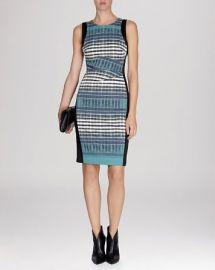 KAREN MILLEN Dress - Plaid Print Signature Stretch at Bloomingdales