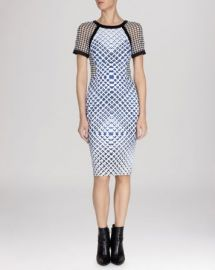 KAREN MILLEN Dress - Printed Signature Stretch at Bloomingdales