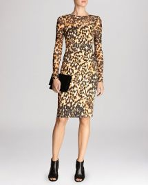 KAREN MILLEN Dress - Signature Stretch Animal Print at Bloomingdales