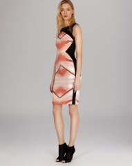 KAREN MILLEN Dress - Signature Stretch Deco Print at Bloomingdales