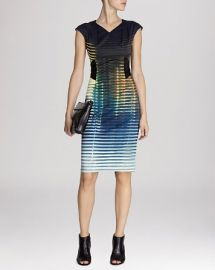 KAREN MILLEN Dress - Signature Stretch Modern Stripe at Bloomingdales