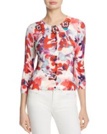 KAREN MILLEN Floral Cardigan - 100  Exclusive at Bloomingdales