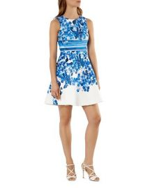 KAREN MILLEN Floral Print Mini Dress at Bloomingdales