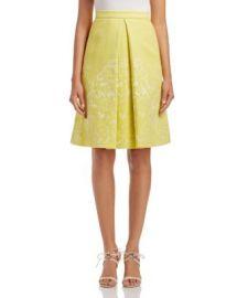 KAREN MILLEN Jacquard Inverted Pleat Skirt - 100  Bloomingdale  039 s Exclusive at Bloomingdales