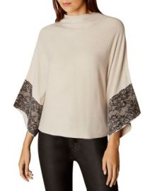 KAREN MILLEN Lace-Trim Poncho at Bloomingdales