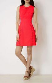 KAREN MILLEN Lace-Up Detail Piqu  Dress at Bloomingdales