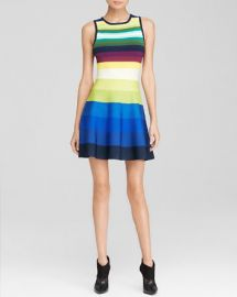 KAREN MILLEN Rainbow Stripe Knit Dress - Bloomingdaleand039s Exclusive at Bloomingdales