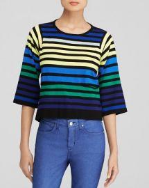 KAREN MILLEN Rainbow Stripe Top - Bloomingdaleand039s Exclusive at Bloomingdales