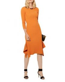 KAREN MILLEN Ribbed Frill Dress at Bloomingdales