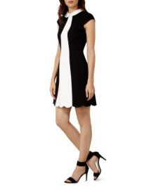 KAREN MILLEN Scalloped Mini Dress at Bloomingdales