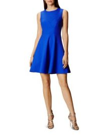 KAREN MILLEN Seamed Skater Dress at Bloomingdales