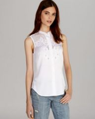 KAREN MILLEN Shirt - Soft Broderie Collection at Bloomingdales
