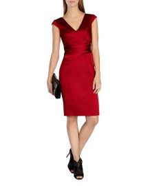 KAREN MILLEN Signature Satin Dress at Bloomingdales