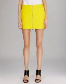 KAREN MILLEN Skirt - Texture Zip Front Mini at Bloomingdales