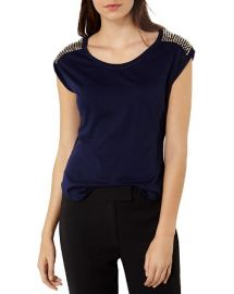 KAREN MILLEN Studded Tee at Bloomingdales