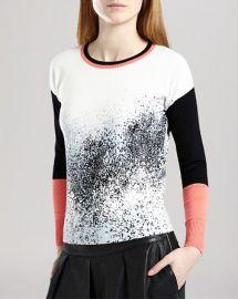 KAREN MILLEN Sweater - Pixel Print at Bloomingdales