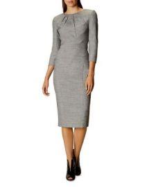KAREN MILLEN Tailored Midi Dress at Bloomingdales