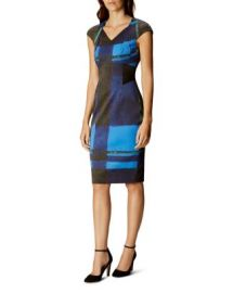 KAREN MILLEN Watercolor Check Dress at Bloomingdales