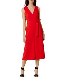 KAREN MILLEN Wide-Leg Belted Jumpsuit at Bloomingdales