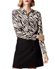 KAREN MILLEN Zebra Print Blouse  Women - Bloomingdale s at Bloomingdales