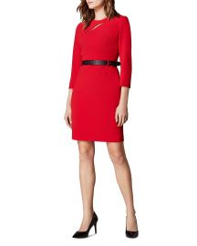 KARNEN MILLEN CUTOUT BELTED SHEATH DRESS at Bloomingdales