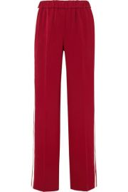 KELLY STRIPED CREPE TRACK pants at Net A Porter
