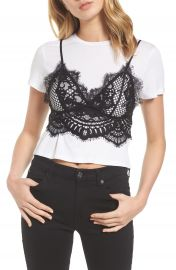 KENDALL   KYLIE Lace Cami Tee at Nordstrom