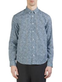 KENZO - LEOPARD COTTON BUTTON-DOWN SHIRT at Saks Fifth Avenue