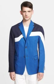 KENZO Colorblock Cotton andamp Linen Blazer at Nordstrom