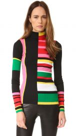 KENZO Ribbed Colorblock Sweater green at Shopbop