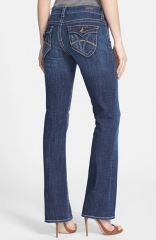 KUT from the Kloth Natalie Flap Pocket Bootcut Jeans in vagos at Nordstrom