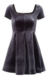 Kachette Velvet Dress at Maje
