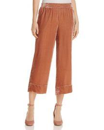 Kaitrine Cropped Velvet Pants at Bloomingdales