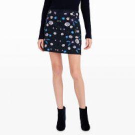 Kalani Embroidered Skirt at Club Monaco