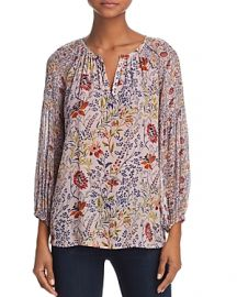 Kandee Floral Print Peasant Top at Bloomingdales