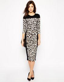 Karen Millen  Karen Millen Dress in Leopard Print at Asos