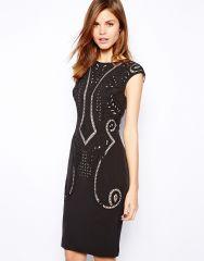 Karen Millen Cutwork Dress at Asos