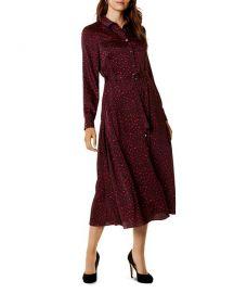 Karen Millen Leopard Print Maxi Shirt Dress at Bloomingdales