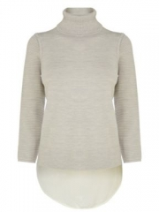Karen Millen Texture Stitch Roll Neck Sweater at House of Fraser